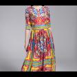 فستان شيفون الرسومات الملونة