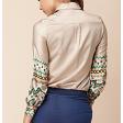 قميص الحرير بأكمام طويلة