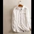 قميص ابيض نسائي كتان